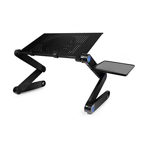 Laptop Stand Laptop Desk for Bed, Adjustable Laptop Stand with Large Cooling Fan Mouse Pad for MacBook Portable