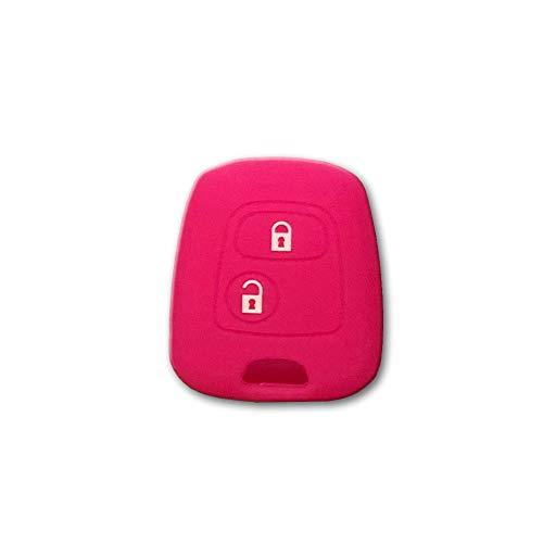 1neiSmartech Cover Guscio Colorato Materiale Silicone Morbido Per Scocca Chiave 2 Tasti Auto Toyota Aygo In 10 Fantastici Colori (Fucsia)