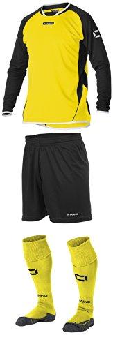 Stanno Porto–Gelb/Schwarz Lange Ärmel Fußball, Shirts, Shorts, Socken