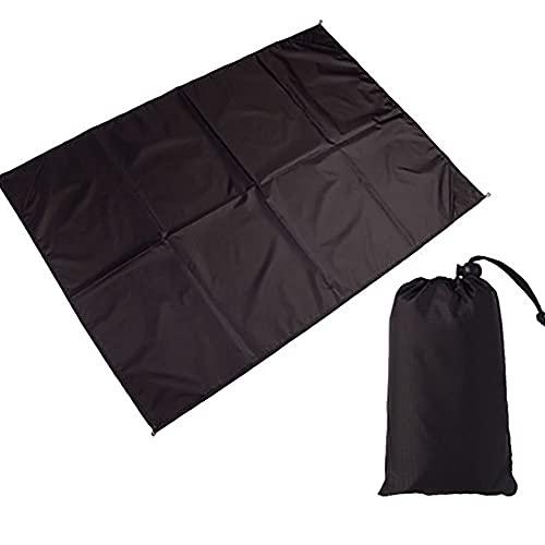 Hasey Manta de camping o playa, cojín impermeable, ultraligero, plegable, portátil, para barbacoa, playa, viajes, color negro (1,4 x 1,5 m)