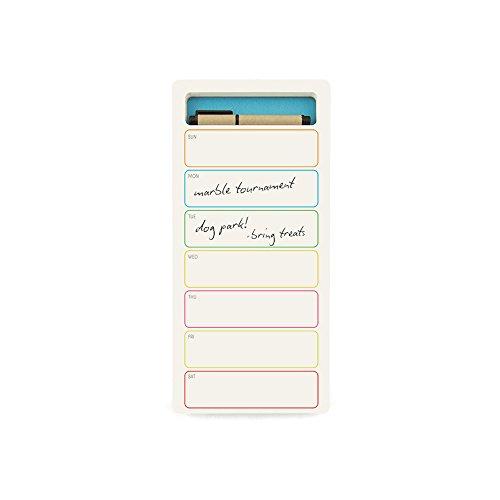 Jotblock Design Wochenplaner mit integriertem Stift und Fach in hellblau,Tagesfelder 26 x 12 cm, 60 Blatt/Wochen