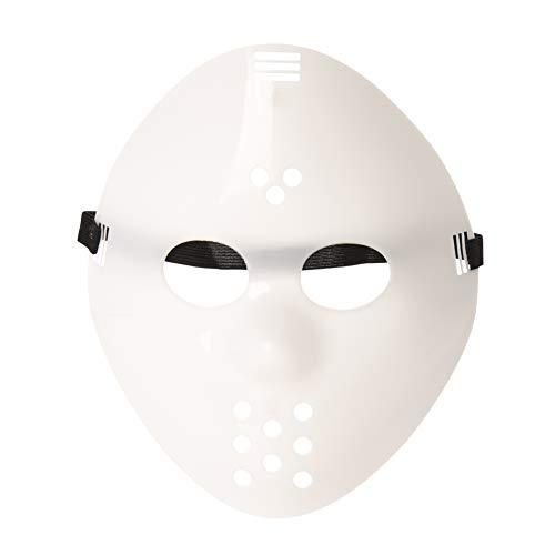 Ultra Einfarbig Weiß Masken Kostüm Halloween Horror Gruselig Schaurig Erwachsene Kinder Mann Frau Freddy Gesichtsmaske vS Cosplay Eishockey