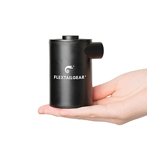 FLEXTAILGEAR Pompa ad aria portatile MAX PUMP 2020, con batteria da 3600 mAh, pompa d aria ricaricabile ,utilizzata per cuscini d aria, giochi da piscina, anelli da nuoto,materassi (Black)