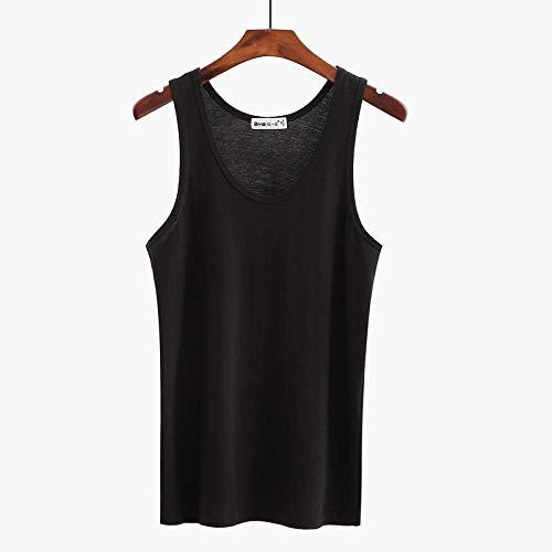 bayrick Clásico Camiseta de Tirantes para HombreCamisola de Color sólido de algodón Puro para Hombres de Mediana Edad * 3-UN_SG