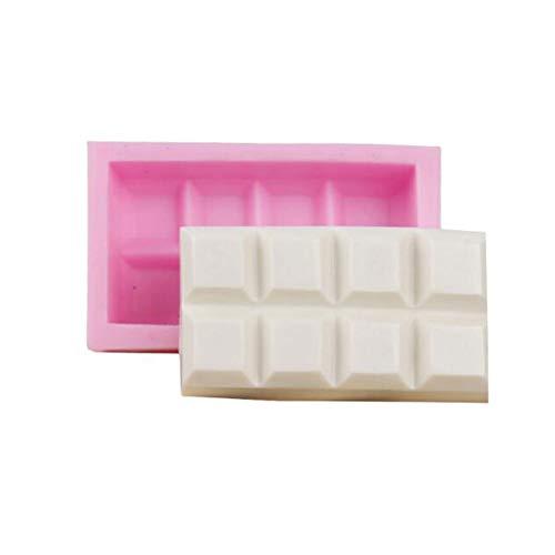 Molde de silicona para tartas de cocina, molde de chocolate, líquido, molde para hornear azúcar, molde para fondant, molde de jabón, molde para hacer barras de chocolate, postre, repostería,