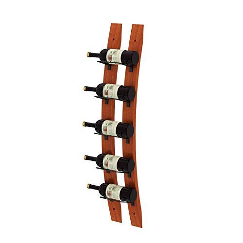 HLWJXS de Madera Estantería de Vino Montado en la Pared Botellero Botella de Vino M Decorativo Restaurante Armario para Vinos Soporte de Exhibición Botella de Vino/A / 102CM