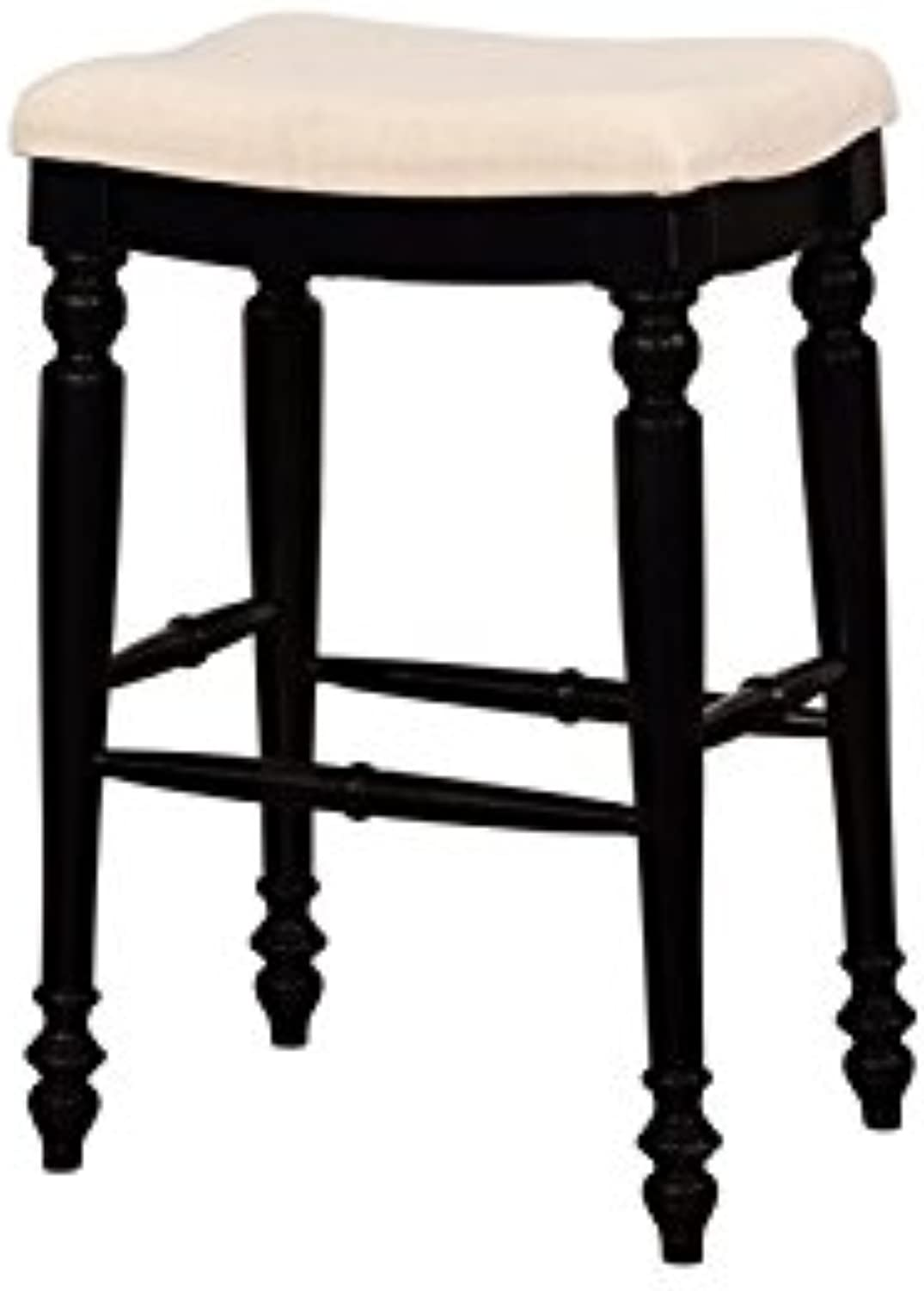 Linon Marino Black Backless Bar Stool