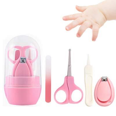 Sprießen Juego de cortaúñas para bebé 4 en 1 con cortaúñas, cortaúñas, limas y pinzas,Kit de aseo para bebé y uñas para niños y recién nacidos