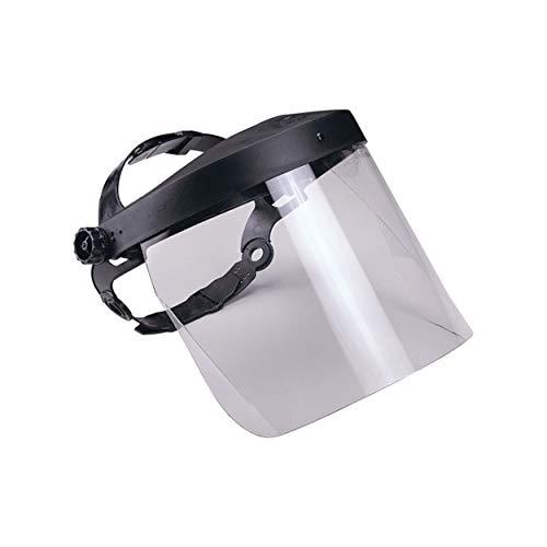 Gesichtsschutz | CE EN166 | mit größenverstellbarem Kopfband | großes Polykarbonat Visier | ca. 20cm x 34cm | klappbares Visier | vielfältige Anwendungsmöglichkeiten