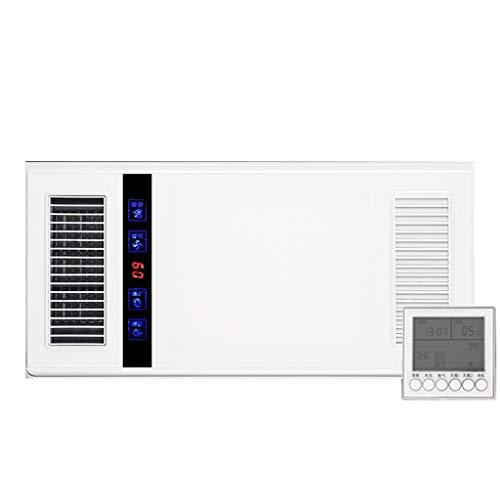 Bathroom Heaters Badezimmer Beleuchtung Heizung, Deckenventilator, 2.5D Curved Gehäuse, 18 Watt LED-Beleuchtung, LCD Wireless Controller, Weiss