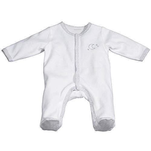 Pyjama bébé blanc lune 1 mois Céleste - Sauthon