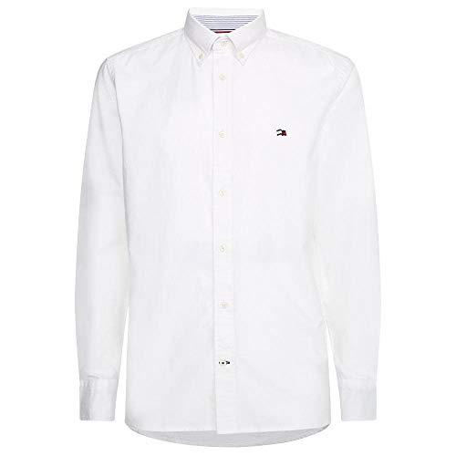 Tommy Hilfiger Herren Classic Oxford Shirt Hemd, weiß, M