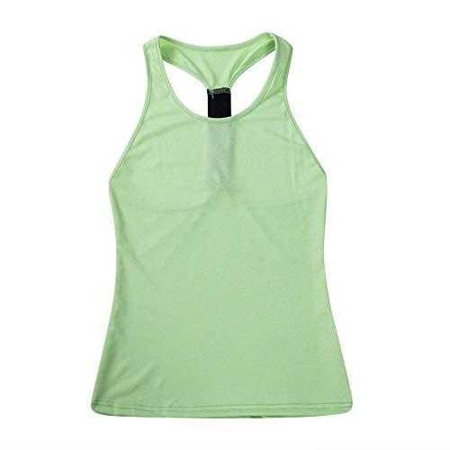 maozuzyy Manica Corta T-Shirt Canottiere da Donna Sexy Slim Abbigliamento Casual da Tutti I Giorni Canotta Ragazze Senza Maniche Palestra Sport Corsa Jogging Wear-Fluorescent_Green_XS