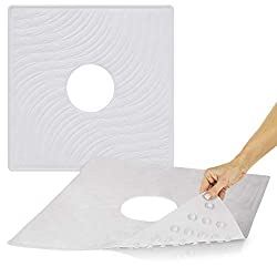 Shower Mat by Vive - Square Bath Mats with Drain Hole
