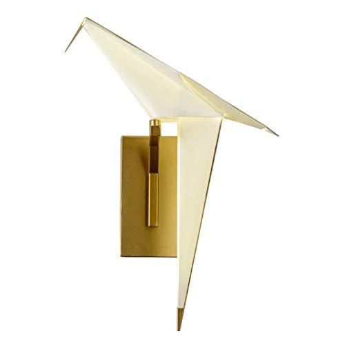 JIAJIA Simple Moderna Solo Tema Cabeza Aplique La Sala Restaurante Ocio Bar Dormitorio Personalizado Pájaro De Papel Bird Lámpara De Pared Creativo De Luminarias De Origami (tamaño: 16,5 Cm) Iluminaci