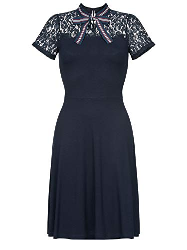 Vive Maria St. Malo Dress Mittellanges Kleid blau S