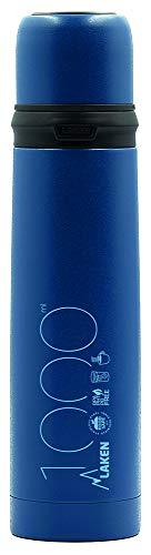 Lake thermosfles van roestvrij staal met deksel/beker, 1 l, voor volwassenen, uniseks, blauw