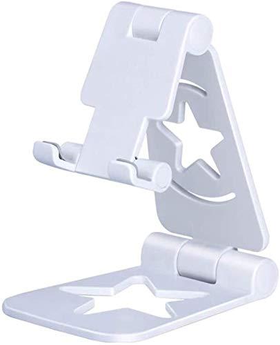 Stands Ban Lu Yi - Soporte de escritorio plegable de plástico para tablet multiángulo, color blanco