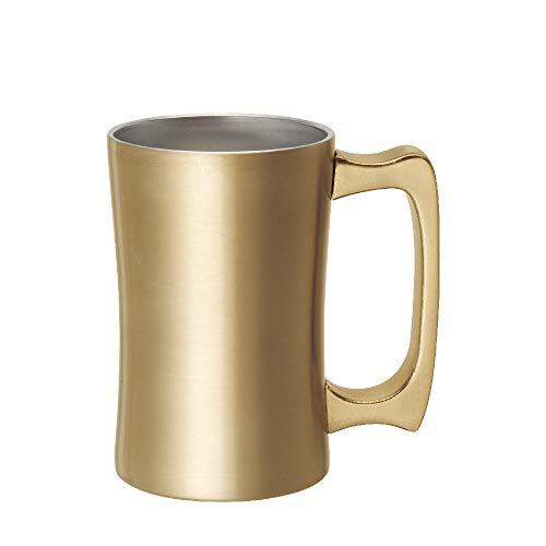 ドウシシャビールジョッキ420ml飲みごろジョッキ真空断熱ゴールド