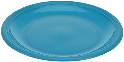 Lot de 4 assiettes réutilisables en plastique bleu sarcelle - Lot de 4 assiettes