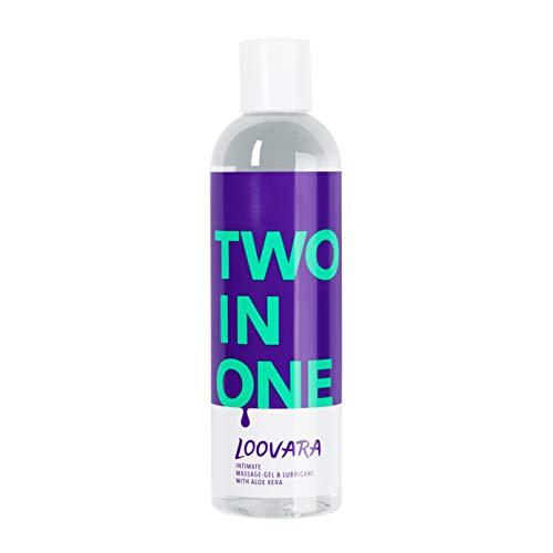 Loovara TWO IN ONE – 2 in 1 pflegendes Massage-Öl & Gleitgel mit Aloe Vera (250 ml) I Vegan, natürlich, dermatologisch getestet, kondomsicher I Ideal für Toys I Made in EU