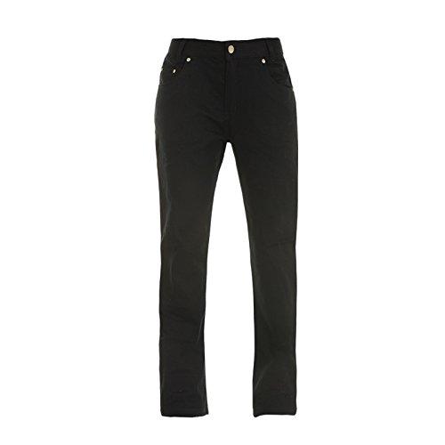 Bull-it Ebony Easy SR6 - Pantalones Vaqueros para Motocicleta, Color Negro