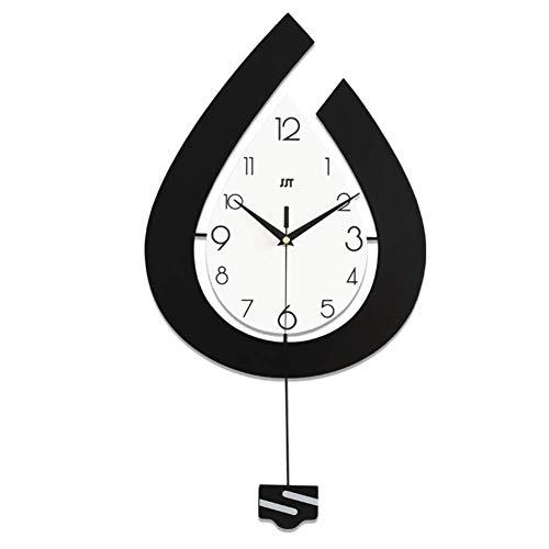 Relaxbx Modern Decorative Pendulum Wall Clock, Water Droplets Wall Clock, Silent Not-ticking Swing Quartz Wall Clock Home Decor-c 45x80cm(18x31inch)