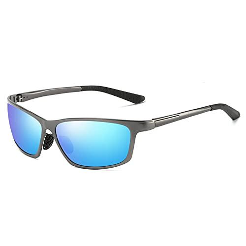 YUANCHENG Gafas de Sol Gafas de Sol polarizadas Gafas ovaladas Vintage Aluminio Magnesio UV400