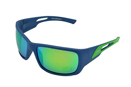 Gamswild WS8132 Sonnenbrille Sportbrille Skibrille Damen Herren Fahrradbrille   rot-orange   grün   pink, Farbe: Grün