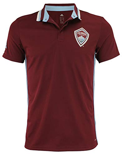 adidas Men's MLS Climalite Authentic Team Polo, Colorado Rapids Large