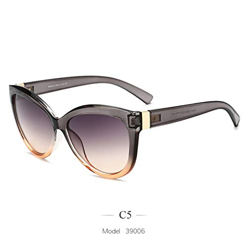 CCGSDJ Nuevo 2019 Gafas De Sol De Gran Tamaño para Mujer De Lujo Marca Vintage Gafas De Sol Damas…