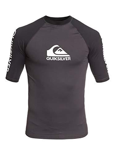Quiksilver - Licra de Surf de Maga Corta UPF 50 - Hombre - S - Negro