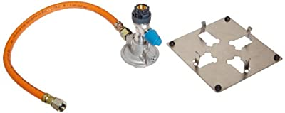 WLD-TEC 6.000.850 Gas-Safety Adapter with Integrated Pressure Regulator, Gas Leak Protection, 0.5 m DVGW-Tubing and Stainless Steel Stand for Gas Cartridges CV 470 / 270 from WLD-TEC