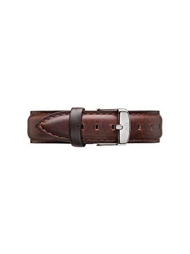 Daniel Wellington Classic Bristol, Correa Reloj Marrón/Plateado, 18mm, Cuero, para Mujer y Hombre