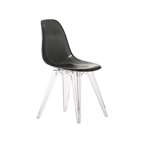 Moderne Mid-Century bureaustoel, eetkamerstoel, transparante stoel, doorzichtig, slaapkamer, woonkamer, keuken Transparentblack