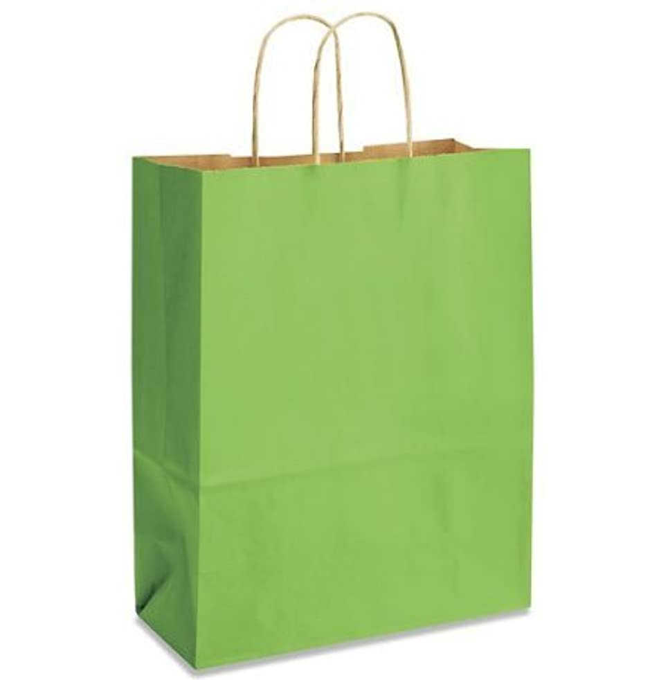 Lime Green Bags, 15 Large Kraft Paper Gift Wrap Bags (13
