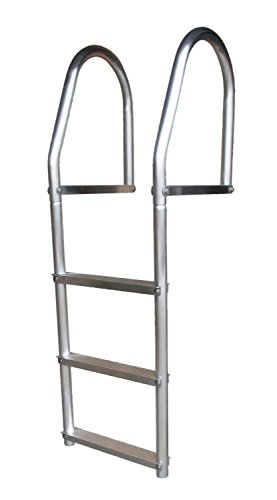 Dock Edge + ECO Weld Free Fixed Dock Ladder, 3 Steps, Aluminum