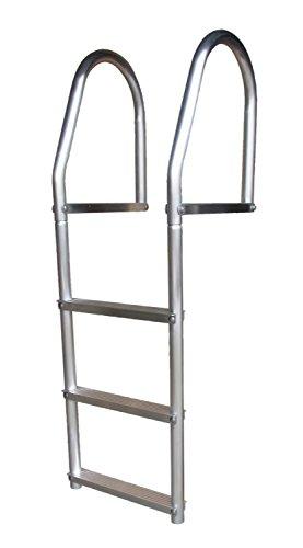 Dock Edge + ECO Weld Free Fixed Dock Ladder, 3 Steps, Aluminum