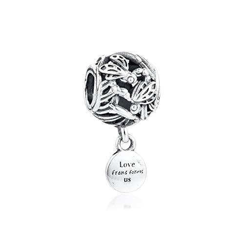 Diy 925 Colgante De Pandora Se Adapta A Pulsera Calado Libélula Amor Encanto Cuentas De Plata Esterlina Auténtica Fabricación De Joyas Para Mujer