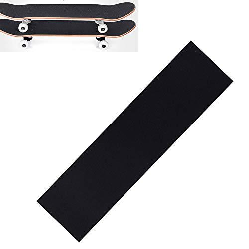 Impermeable Antideslizante Antideslizante Skateboard Professional Black Carborundum Skateboard Deck Sandpaper Grip Tape (84x23cm)