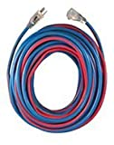 Voltec 98025 Extension Cord, 25', Blue/Red