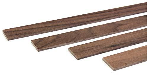 wodewa Holzleiste Wandleiste Nussbaum Geölt 1m Abschlussleiste Holz 30x4mm Zierleiste für Wandverkleidung Decke Boden Abdeckleiste DIY Basteln