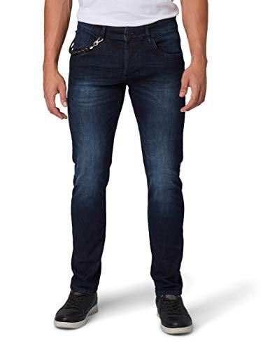 TOM TAILOR Herren Jeanshosen Troy Slim Jeans Dark Stone wash Denim,38/34