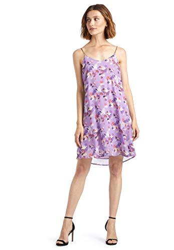 khujo Damen Kleid Jamila leichtes Trägerkleid Sommerkleid mit tropischem Print