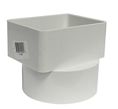 Canplas 414463BC PVC Sew 3X4X4 Flush Down Spout Adaptor, White