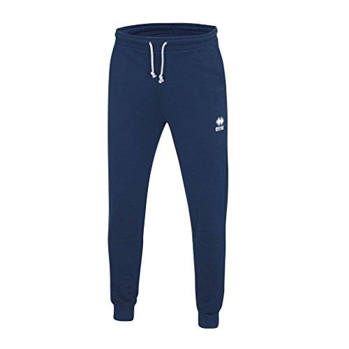 Errea Denali pantalone uomo sportivo con polsino 80% cotone 20% poliestere 300 gr (M, BLU)