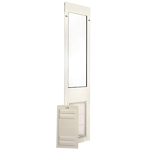 """Hot Sale Patio Pacific - Thermo Panel 3e - Extra Large with Endura Flap - 77.25""""-80.25"""", white frame, pet door for sliding glass doors"""