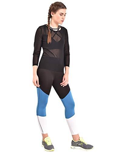 Red Cheri Natraj Leggings Leggins Women Fitness ı Reducing Effect ı Push Up High Waist - Blue - XL