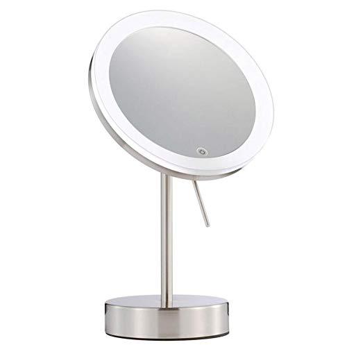 ZNDDB Kosmetikspiegel LED-Licht 7-fache Vergrößerung, Bad-Rasier-Make-up, 90 ° drehbar,schminkspiegel