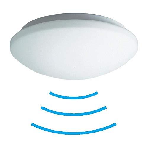 Tevea Led Deckenleuchte mit Bewegungsmelder | 18W IP44 | Standby Funktion | Sensorleuchte 5.8 GHz Radar Sensor | Keller Treppenraum Feuchtraum (Neutralweiss)